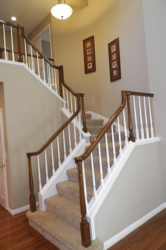 Interior Railing & Stair After
