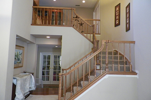 Interior Railing & Stair Before